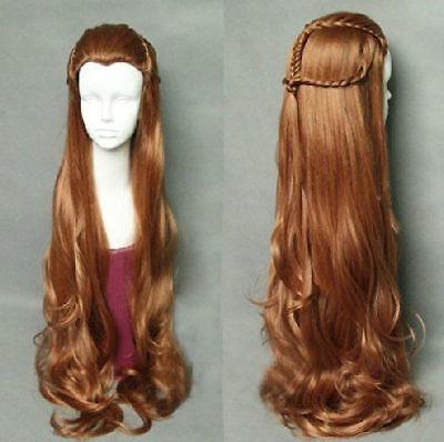 For cosplay Japan Anime The Hobbit Elf Tauriel Wig Hair Costume brown wavy wig](The Hobbit Elf Costume)