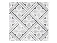 Mr Jones Charcoal 33cm x 33cm Floor Tile