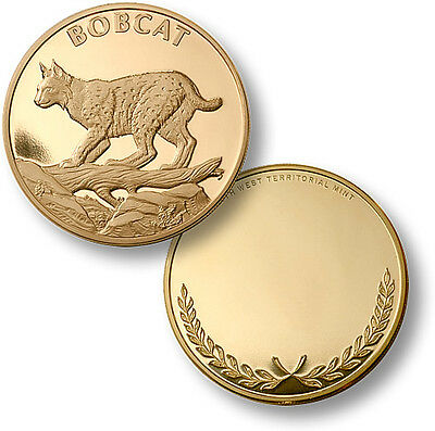 Bobcat / Lynx rufus - Engravable MerlinGold Coin - Bobcat Lynx