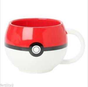 Anime Pokemon Monster Poke Ball Cosplay Ceramic Tea coffee milk mug cup with box