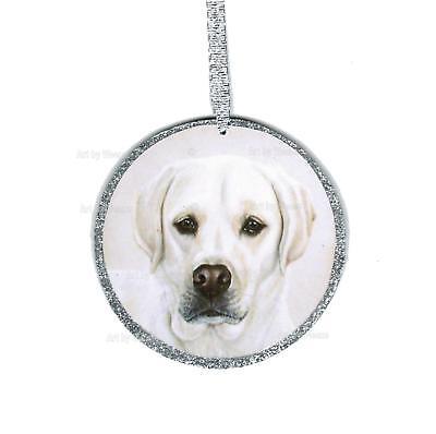 Labrador Retriever Ornament Labrador Dog Art Christmas Tree Ornament, used for sale  Martinsburg