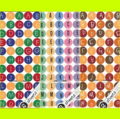 3 SETS TAG TYPES ALPHABET BOTTLE CAP IMAGEs STICKERS STICKO Primary Fall Spring