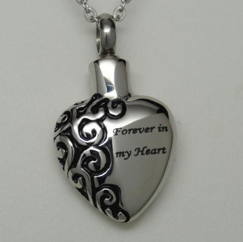 Forever in my heart ebay for Father daughter cremation jewelry