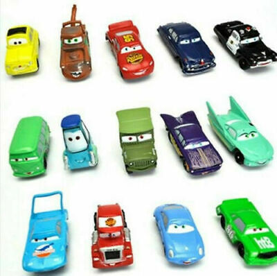 Disney CARS Lightning McQueen & Mater 14 Figures Playset Cake Topper Party Gift