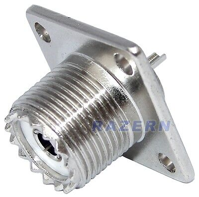 Female Coax Cable - NEW 10-Lot UHF female SO239 panel chassis mount coax cable connectors USA Seller