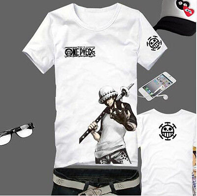 One Piece Trafalgar Law Anime T-Shirt Costumes Kostüme 100% Baumwolle
