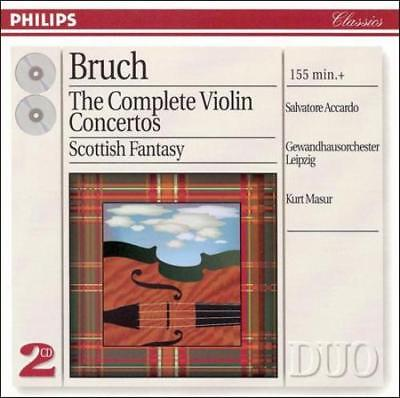 BRUCH: THE COMPLETE VIOLIN CONCERTOS NEW CD Complete Violin Concertos Cd