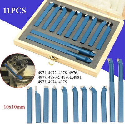 New 11pcs 10mm Metal Lathe Tools Knife Set Bits For Lathe Cutting Tools Set