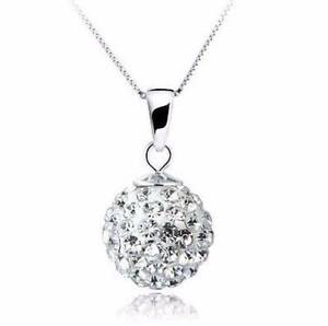 Rhinestone ball with silver chain necklace. NEW Gateshead Lake Macquarie Area Preview