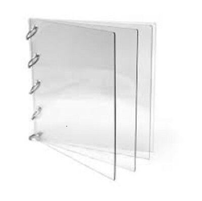 Large Square Album - Kaisercraft Clear Acrylic Album Large Square 4 Pages with Rings 7 x 7 NEW!!!