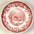 Red Spode Plates