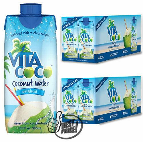 2 Pack of Vita Coco Coconut Water (11.1 oz., 12 pk.) TOTAL 24 pk. *BEST DEAL*
