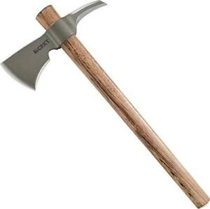 NEW CRKT Woods Chogan Tomahawk Axe: RMJ T-Hawk Lightweight Outdoor Camping Axe with Hammerhead, Forged Carbon Steel B...