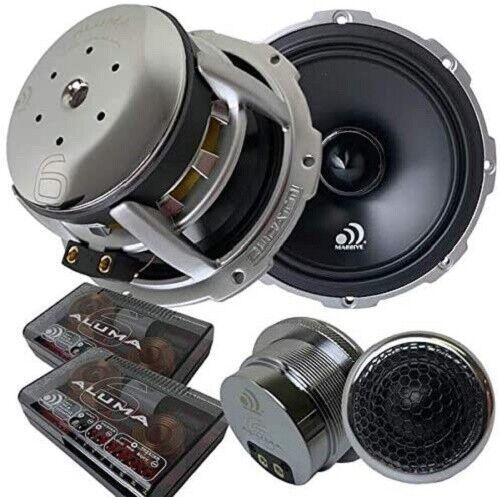 "(Pair) Massive Audio High Fidelity Aluma 6 Component 6.5"" inch Speakers"