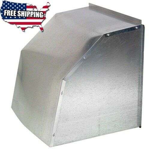 "Weather Hood Cover 24"" Galvanized Steel fits 24 inch Diameter Wall Exhaust Fan"