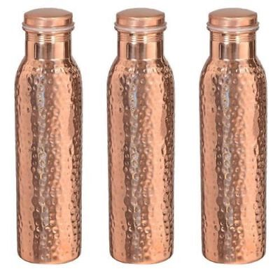 Traveller's 100 % Pure Copper Water Bottle Set of 3, Free Shipping