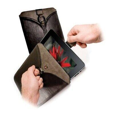 """Tuff-Luv Etui en cuir """"Veggie"""" avec anneau pour Apple iPad 2.3.4...Noir"""