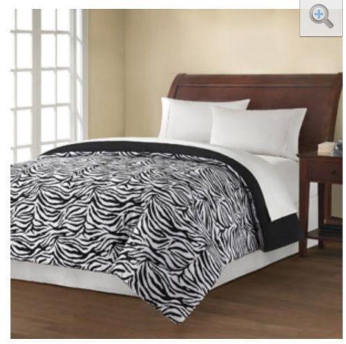 Zebra bedding ebay