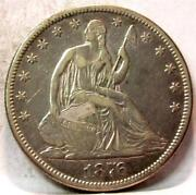 1876 CC Seated Liberty Half Dollar