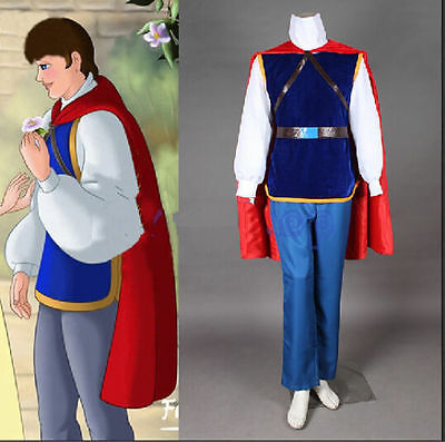 Custom-Made Snow White Prince Cosplay Costume Halloween Men Clothes  - Snow White Customes