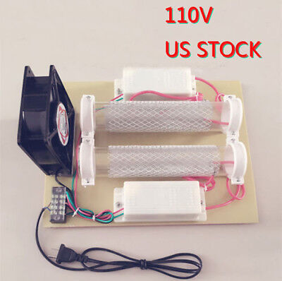 110V Tube Ozone Generator 15000mg/H Ozone Disinfection Machine Air Purifier USA