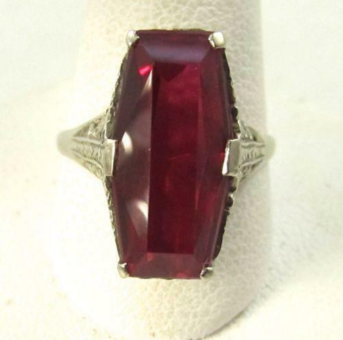 Antique Vintage Ruby Ring Ebay