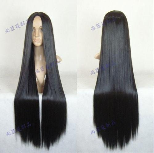 Long Straight Black Wig Ebay 11