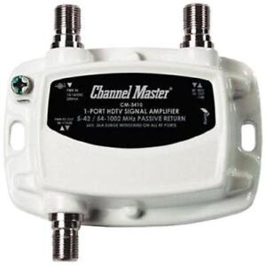 NEW Channel Master CM-3410 1-Port Ultra Mini Distribution Amplifier for Cable and Antenn