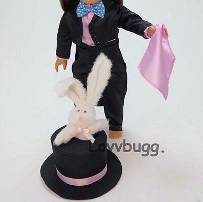 "Lovvbugg Magician Costume w Rabbit for 18"" American Girl Doll Clothes"