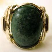 Mens 14k Jade Ring