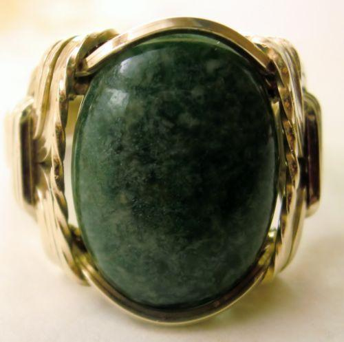 Imperial Jade Cabochon Ring