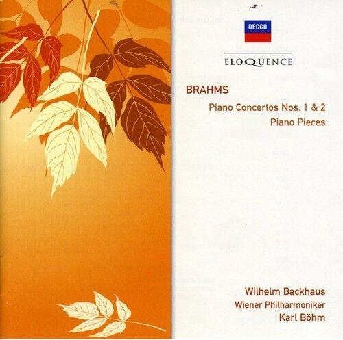 Wilhelm Backhaus - Brahms: Pno Ctos Nos 1 & 2 / Pno Pieces [New CD]