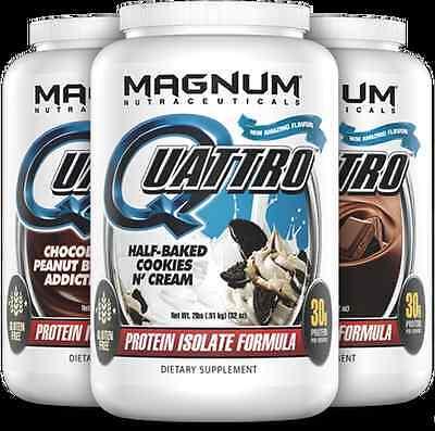 Magnum Nutraceuticals Quattro 2lb Chocolate blend Milk Egg Whey Casein -