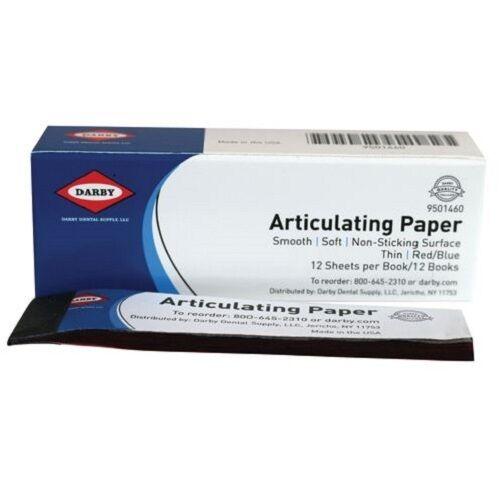 Dental Straight Articulating Paper Blue/Red 12 Bx/12 Sheets SuperDent 9501460