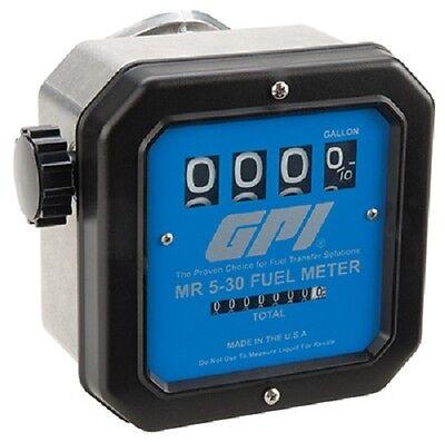 Gpi Great Plains 126300-01 Mr-5-30 30 Gallon Diesel Gas Kerosene Fuel Meter