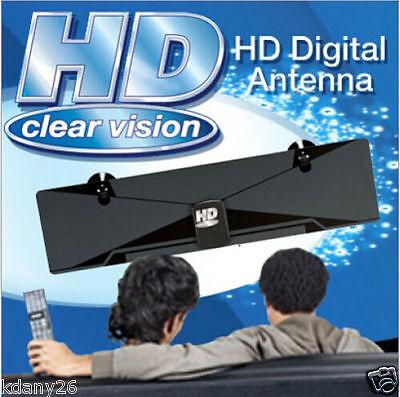 HD Clear Signal Digital HDTV HD VHF UHF Antenna Ultra Thin Flat TV 1080P Indoor