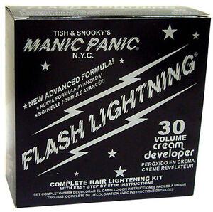 MANIC PANIC FLASH LIGHTNING HAIR BLEACH KIT 30 VOLUME w/PRICE MEET/BEAT