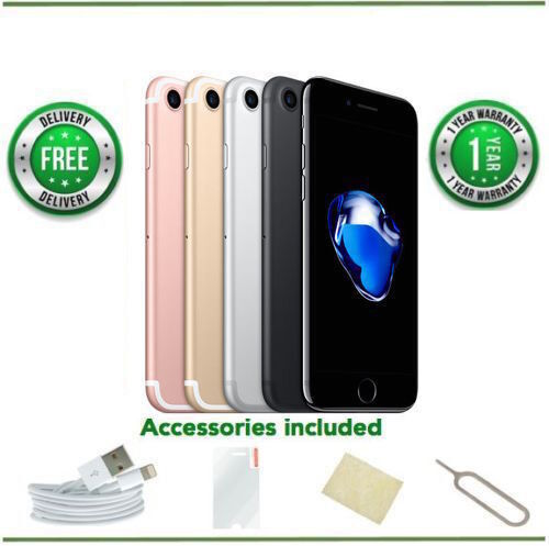 SELLER REFURBISHED APPLE IPHONE 7 - 32GB/128GB/256GB - ALL COLOURS - UNLOCKED - VARIOUS GRADES