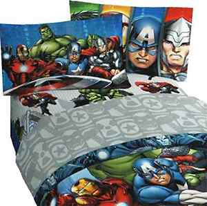new 3pc marvel avengers twin bed sheet set superhero halo bedding accessories