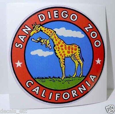 San Diego Zoo Vintage Style Travel Decal / Vinyl Sticker, Luggage Label