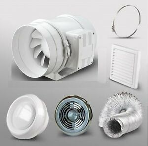 4-Bathroom-Inline-Extractor-Fan-Light-Kit-Shower-room-Loft-Ceiling-Grill-Duct