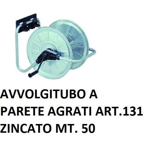 AVVOLGITUBO da MURO PARETE ZINCATO PER 50mt di TUBO ACQUA IRRIGAZIONE GIARDINO