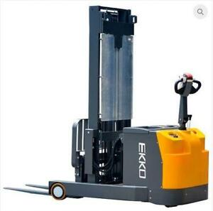 "EKKO EH15T Moving Mast Walkie Reach Truck 3300lbs. Cap., 138"" Height"