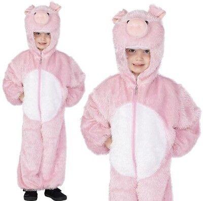Kinder Kostüm Schwein Kostüm Jungen Mädchen Kinder Nutztier von Smiffys