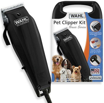 Wahl Pet Dog Cat Horse Goat Fur Hair Clipper Cutter Kit 10 Piece Grooming Kit  for sale  Los Angeles