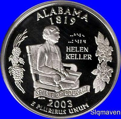 2003 S Clad Alabama State Quarter Deep Cameo Gem Proof No Reserve 2003 Alabama State Quarter