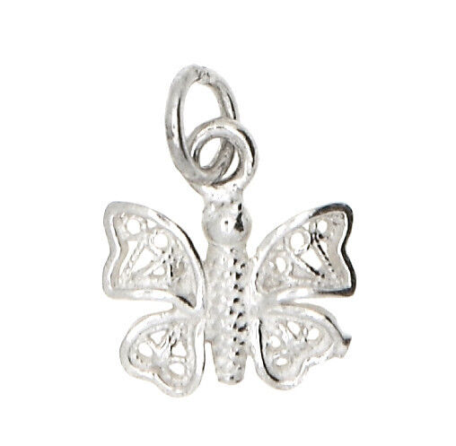 STERLING SILVER ONE SIDED CUT OUT BUTTERFLY CHARM OR PENDANT