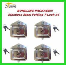 Promotion! 4 X Stainless Steel Folding T-lock for TRAILER TOOLBOX Clayton South Kingston Area Preview