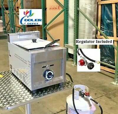 New Single Basket Commercial Deep Fryer Model Fy19propane Gas Use Counter Top