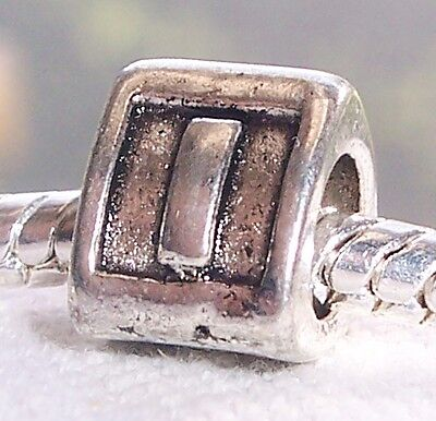 Alphabet Letter I Triangle Initial Bead For Silver European Style Charm Bracelet